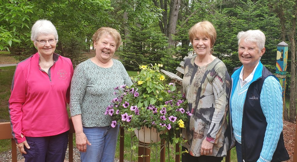 Children's Pantry Committee. L to R:  Betty Wright, Jayne Winblad, Jean Arndt (Chairperson) Deb Obrodovich